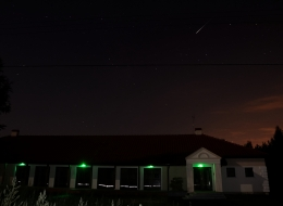 Świetlica w Wierzycach  - podczas nocy z Perseidami