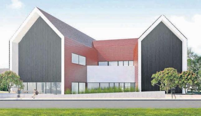 budynek inkubatora - wizualizacja komputerowa